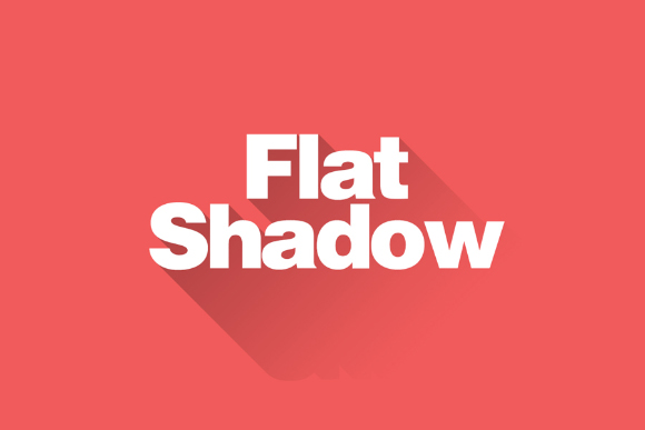 Flat Shadow Photoshop Action