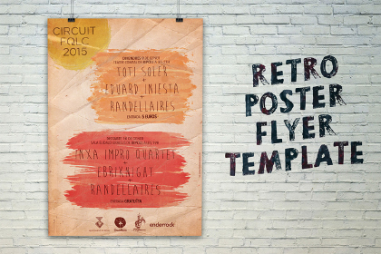 free Retro Poster Flyer Template