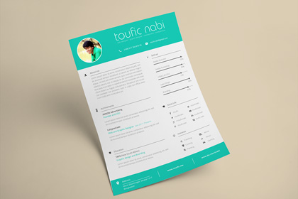 graphic designer resume cv template free design resources