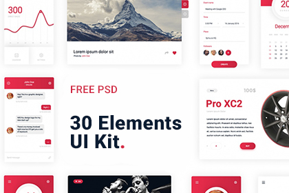30 Elements UI Kit