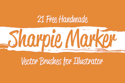 Free Sharpie Marker Vector Brushes