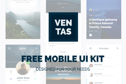 Ventas - Free Mobile UI Kit