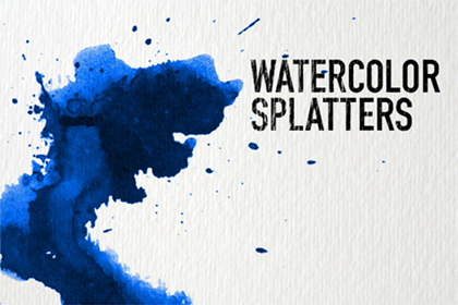 Watercolor splatter texture
