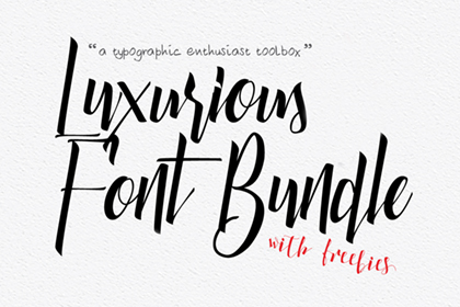 Luxurious Font Bundle Lite Version