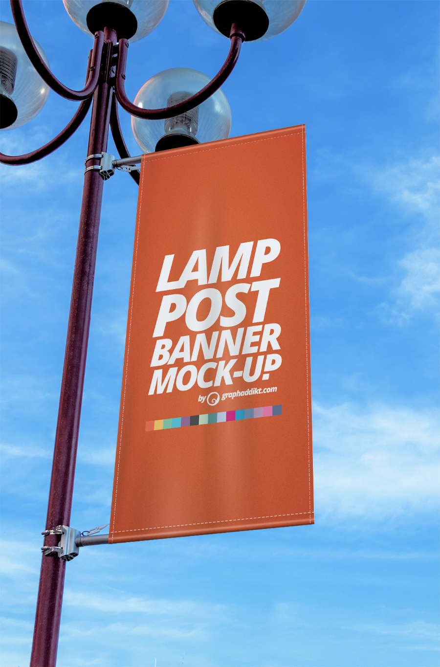 Free Lamp Post Banner Mockup Free Design Resources