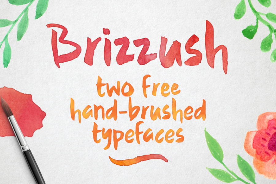 Brizzush - Rough & Smooth Typeface