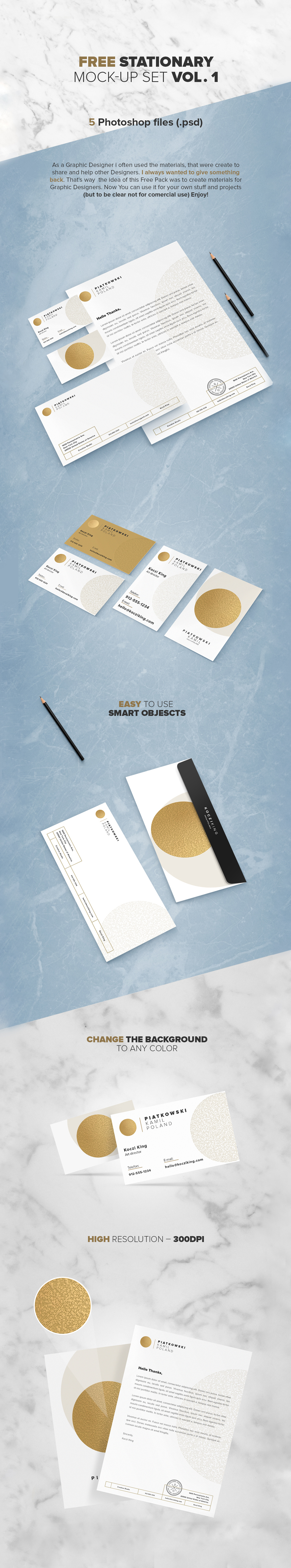 Free Stationary Mock-Up Set Vol.1