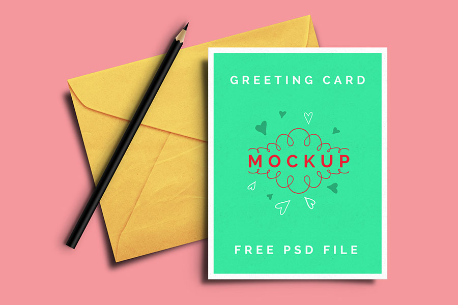 Freebie Greeting Card Mockup Vol.1