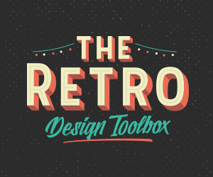The Retro Design Toolbox: 62 fonts and 1147 Graphics only $29