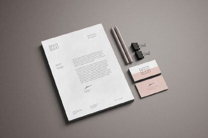 Advanced Branding Stationery Mockup