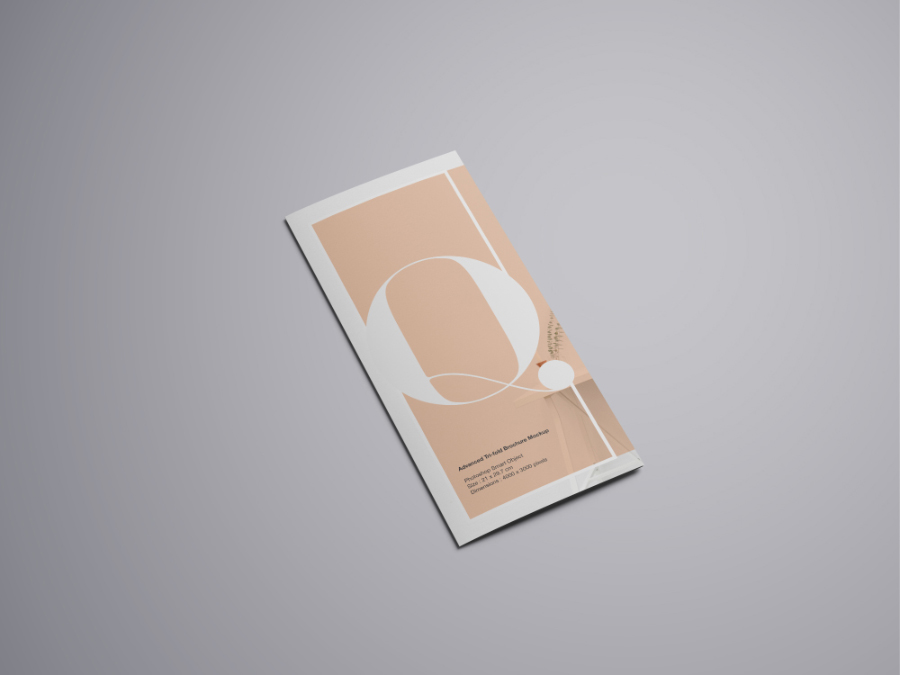 Advanced Trifold Brochure Mockup