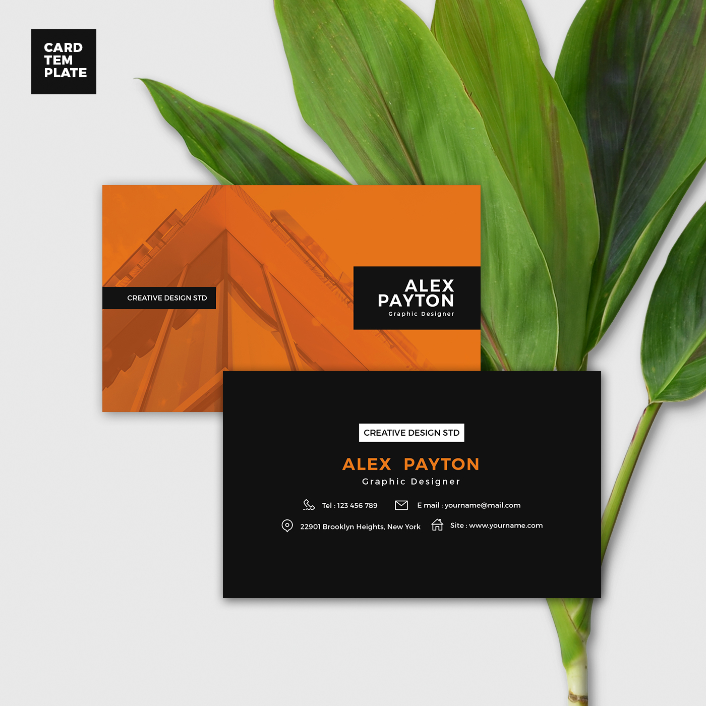 Duotone Business Card Design Template