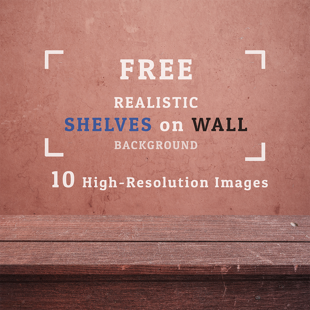 Free 10 Realistic Shelves Background