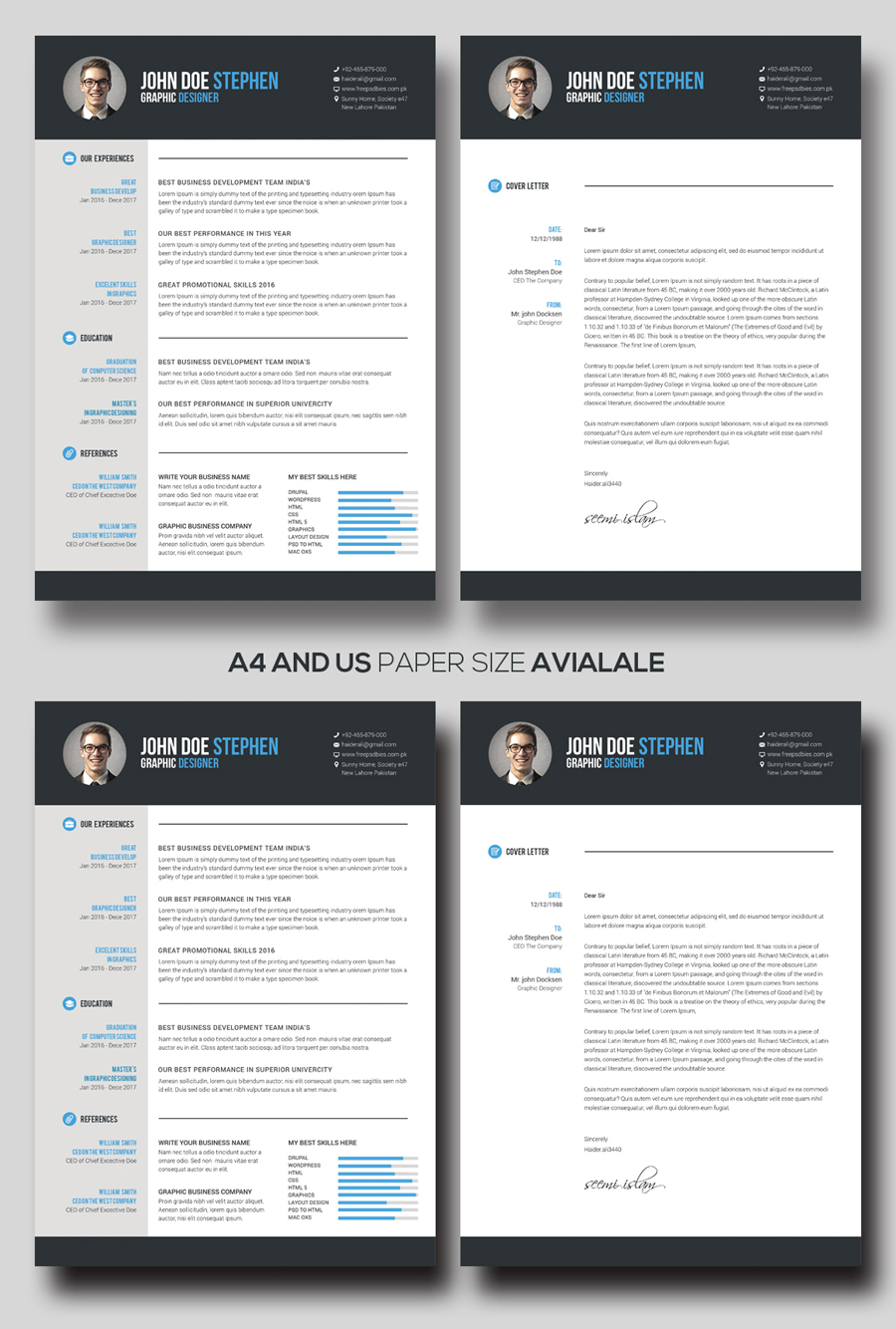 Free MsWord Resume and CV Template Free Design Resources – Free Microsoft Resume Template
