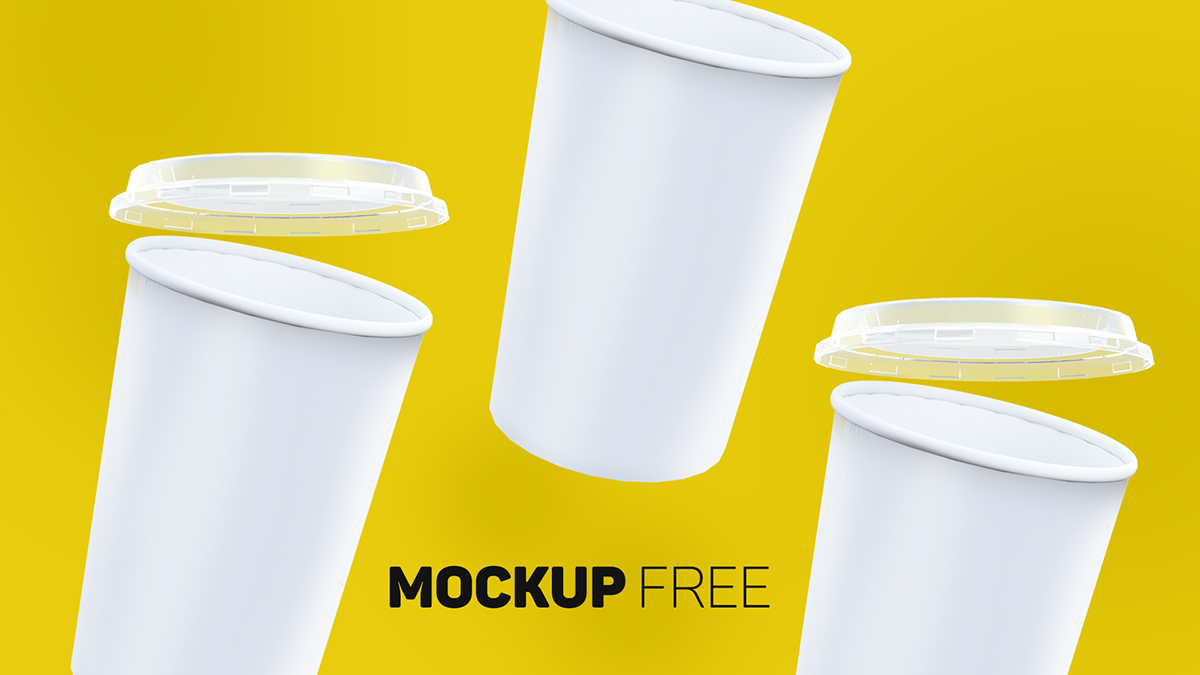 Paper Cup Free Mockup - Free Design Resources
