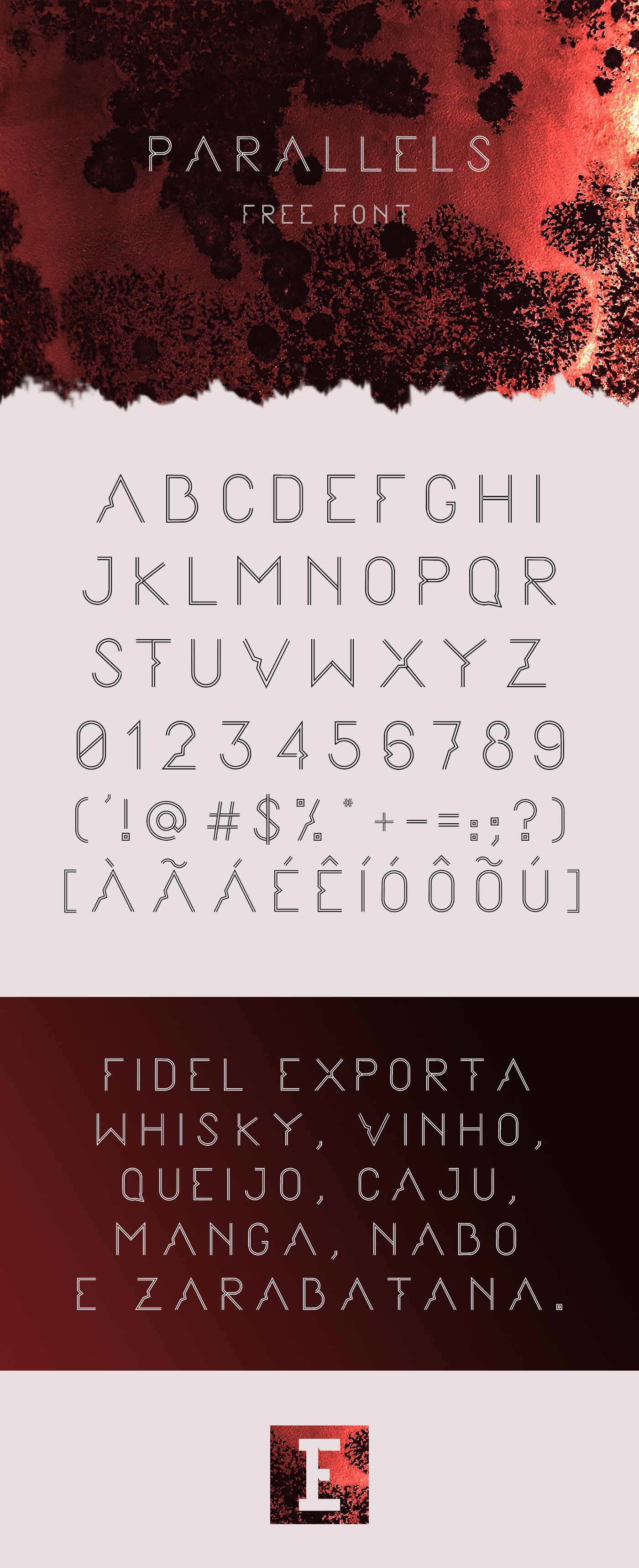 Parallels Free Display Font