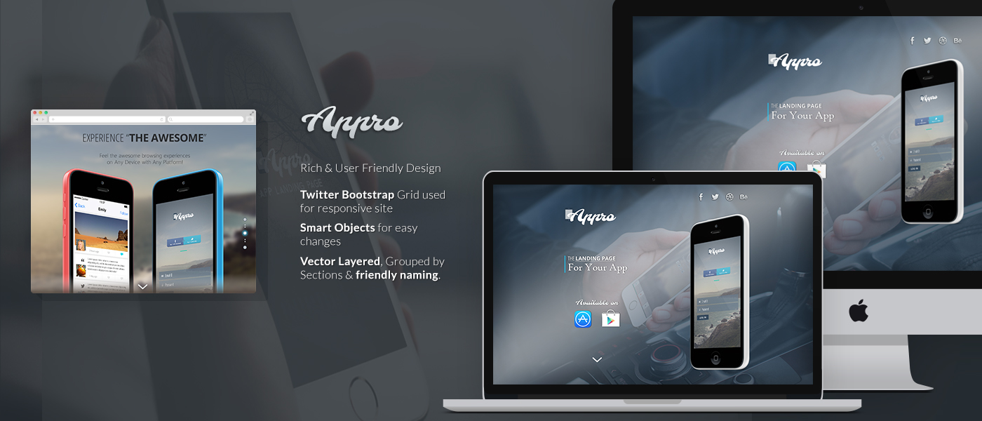 Appro Free Website PSD Template