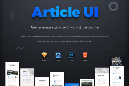 Article UI Kit Free Sample