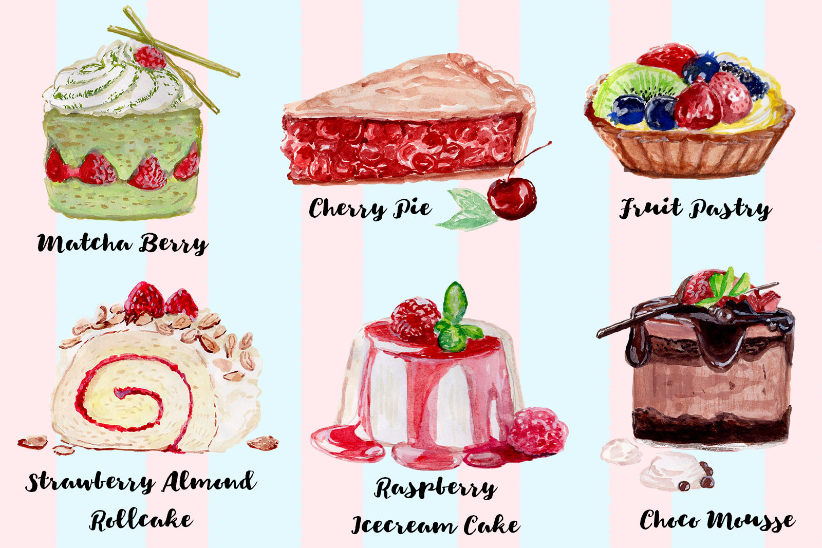 Free Watercolor Cake Cliparts Freemium Download