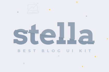 Stella Best Blog Free UI Kit prev01