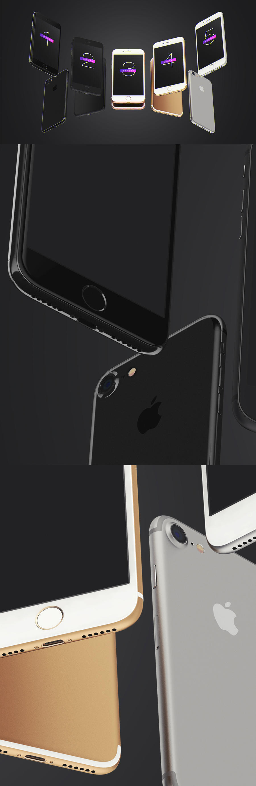 Free iPhone 7 UI Mockup