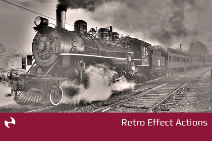 Free Photoshop Retro Effect Actions