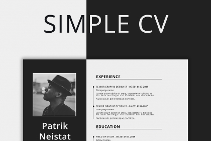 Free Simple Resume Template prev01