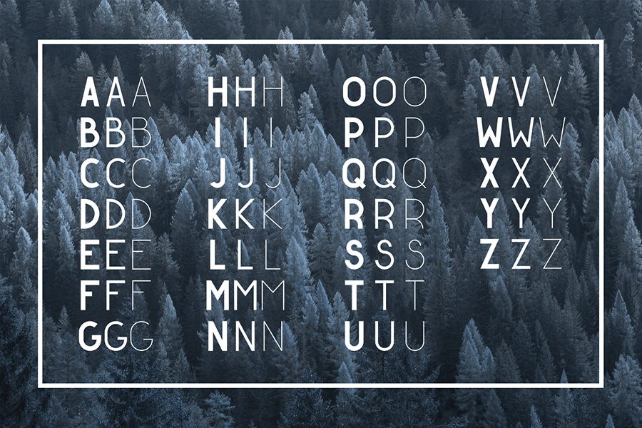 Golden Ratio Typeface Free Demo