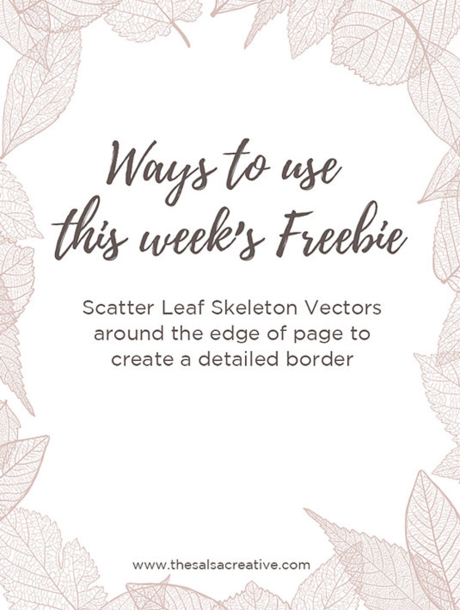 Leaf Skeleton Free Vectors