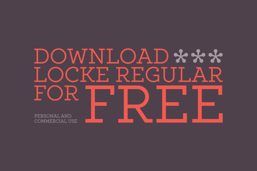Locke Regular Free Typeface
