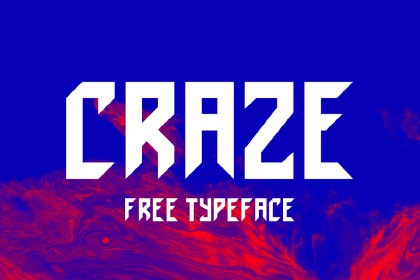 Craze Display Free Typeface