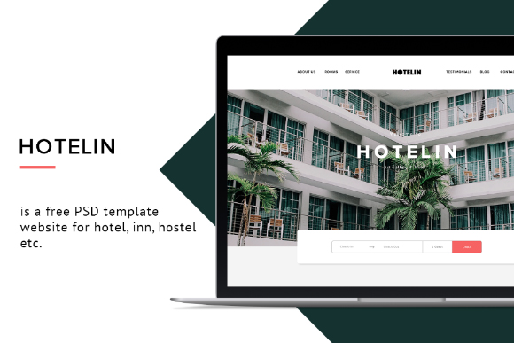 Hotelin Free PSD Website