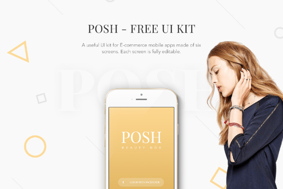 POSH Free PSD Mobile UI Kit