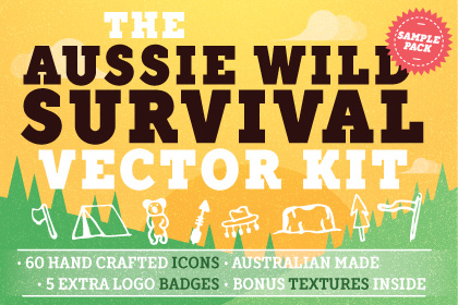 Free Aussie Wild Survival Vector Kit