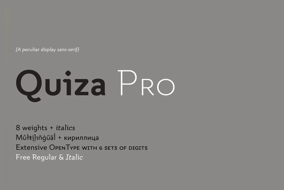 Quiza Pro Typeface Free Demo