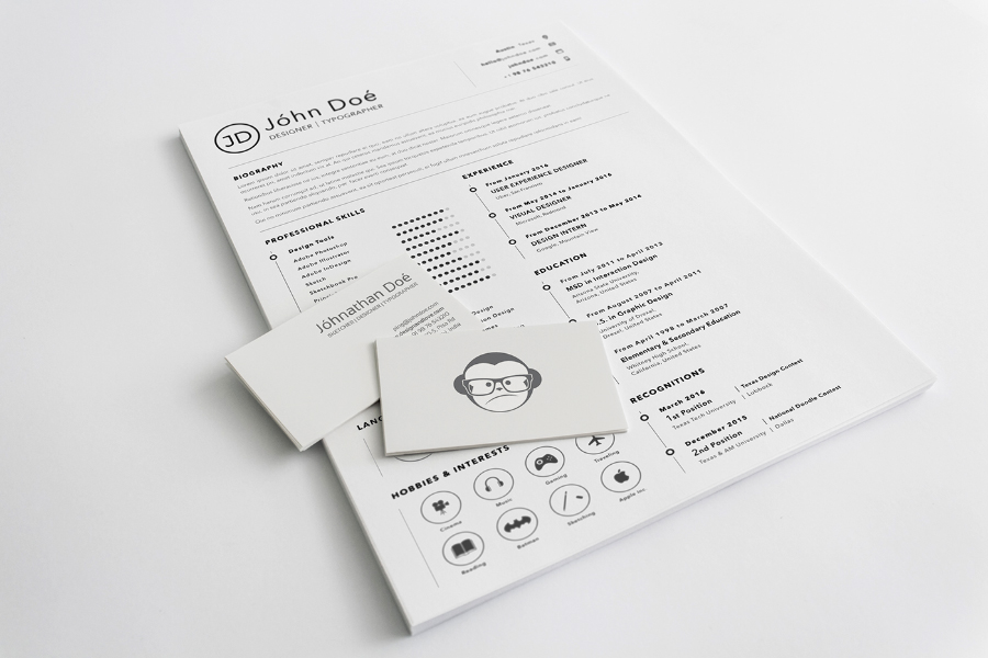 A4 Sketch Resume Template