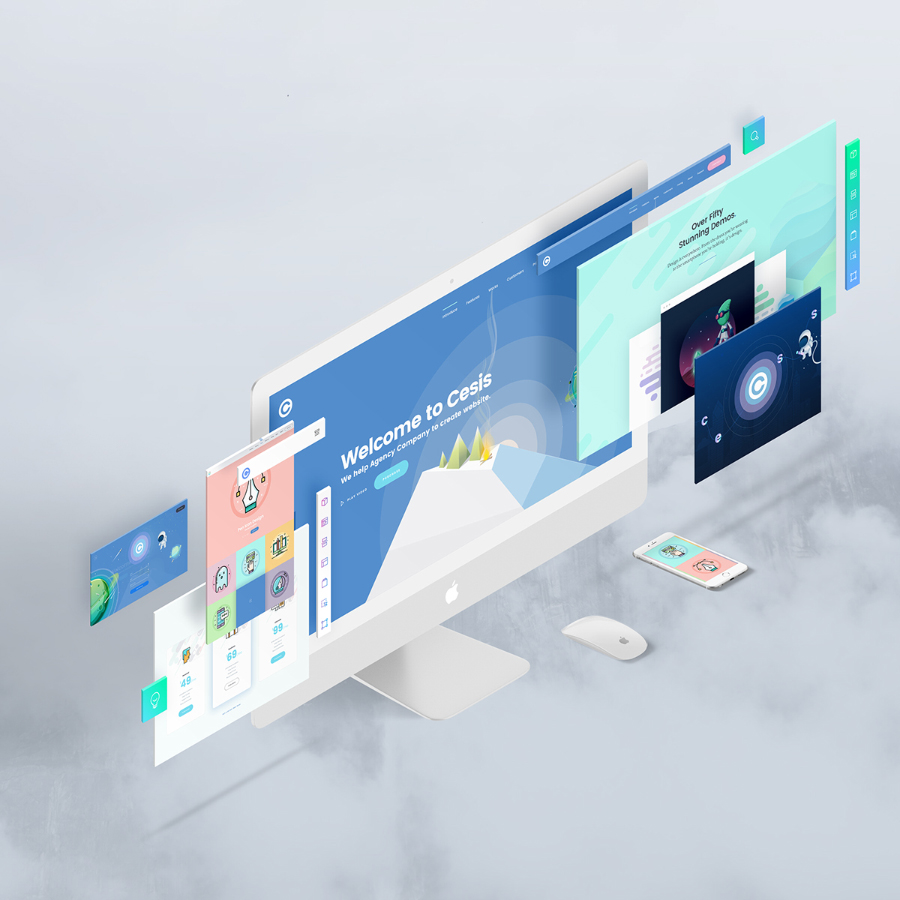 The Screen Free Perspective PSD Mockup