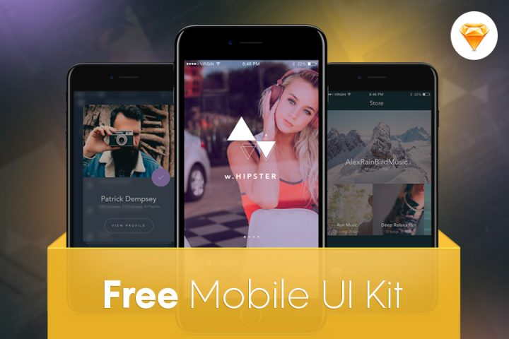 Free Mobile Music App UI Kit