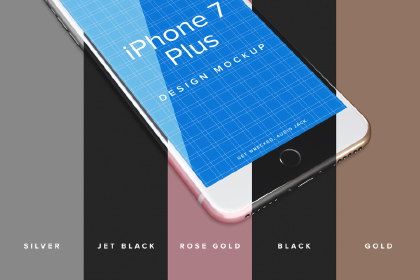 iPhone 7 Plus Free PSD Mockup