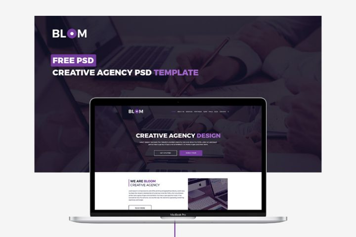 Bloom Creative Agency PSD Template