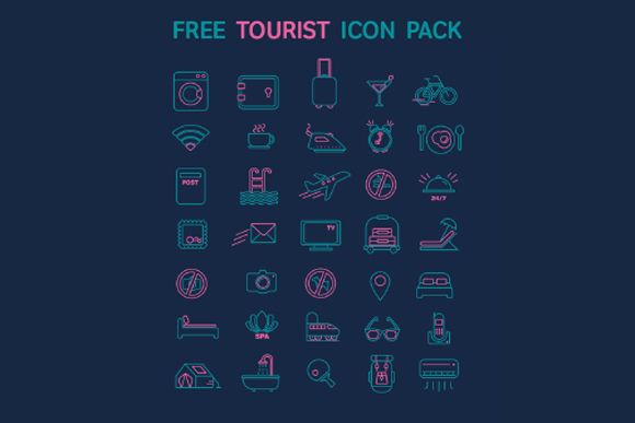 Free Tourist Vector Icon Pack