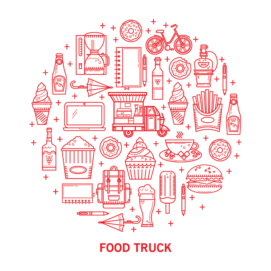 Food Truck Vector Icon Pack