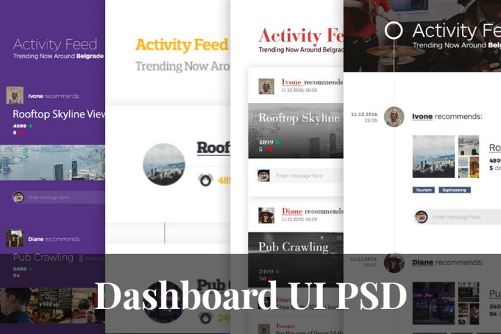 Dashboard Free PSD UI Kit