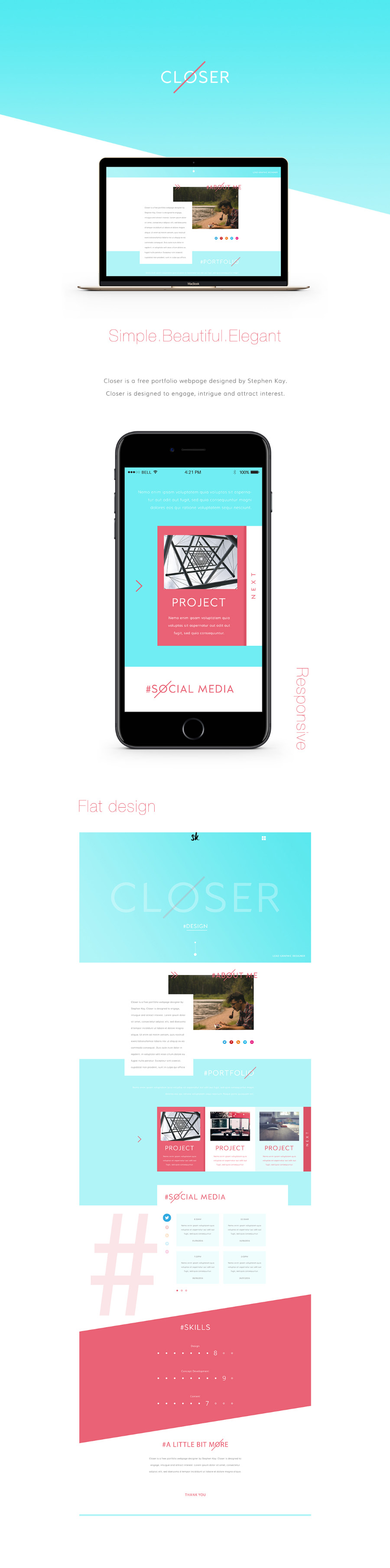 Closer Free PSD Template