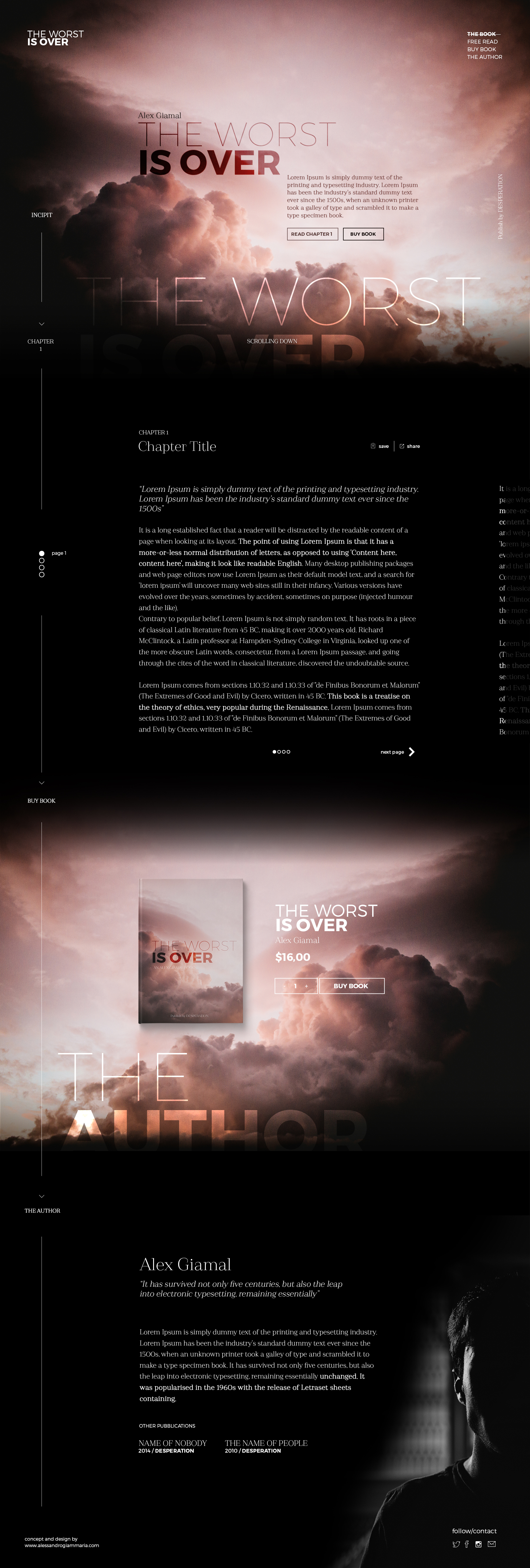 Book Free PSD Landing Page