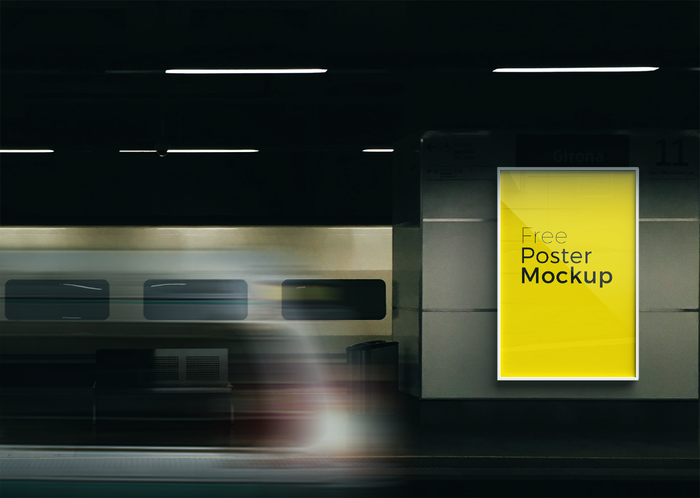 free poster and billboard mockups