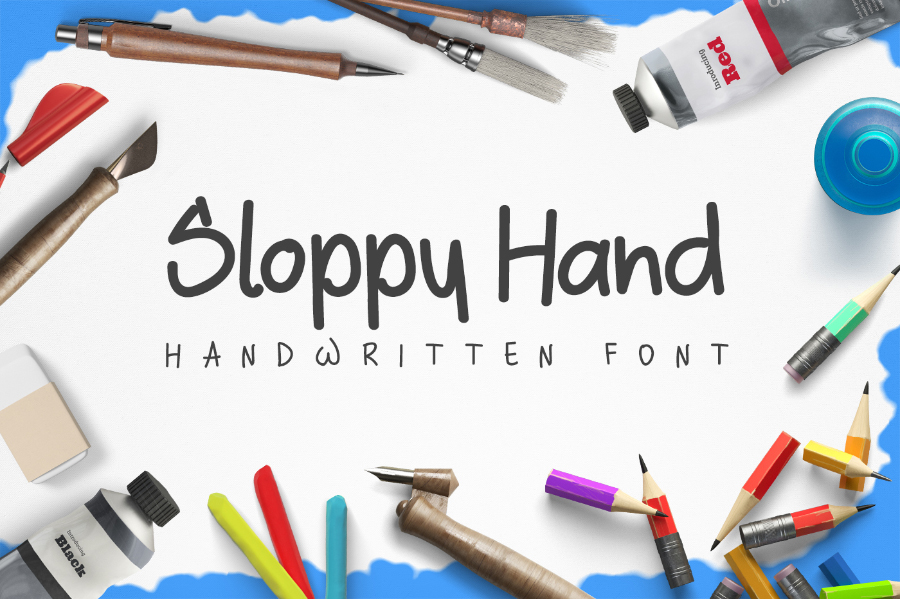 Sloppy Hand Free Typeface