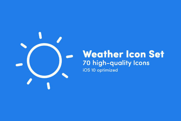 Free Weather Linear Icon Set