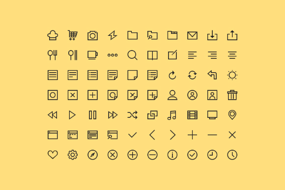 70 Free Simple Line Icons