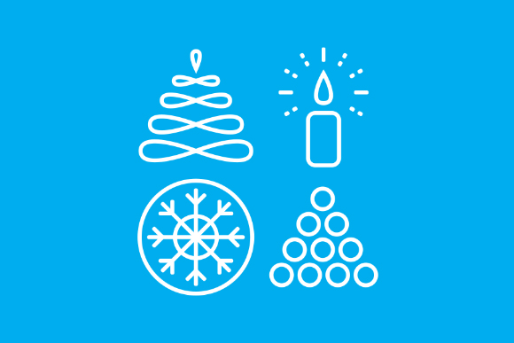 Free Winter Linear Icons